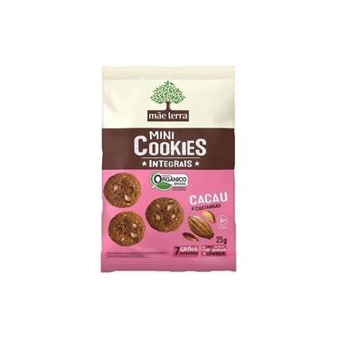 Mini Cookies Integral - Cacau e Castanha - 25g - Mãe Terra