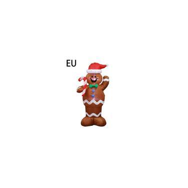 Imagem de Modelo inflável Natal Props Brinquedos infláveis Gingerbread Papai Noel Forma