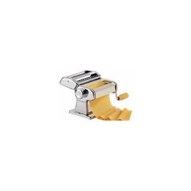 Imagem de Maquina De Preparar Massa E Macarrao Manual Cilindo Para Fazer Massas Espagueti, Pastel E Lasanha 3