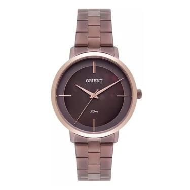 4ccb3e08e47 Relógio Feminino Orient Analógico FTSS0059 N1NX - Marrom