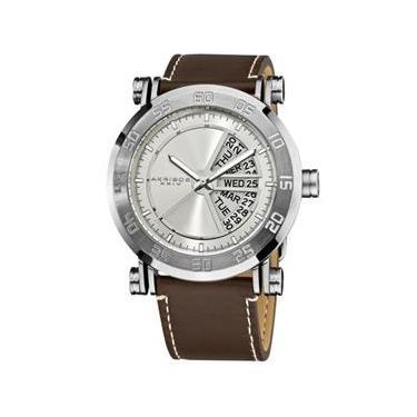 Relógio Masculino Akribos XXIV Modelo AKR552SS Pulseira em Couro   A prova  d  água 73bedcdf64