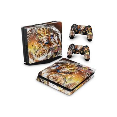Skin Adesivo para PS4 Slim - Dragon Ball Fighterz