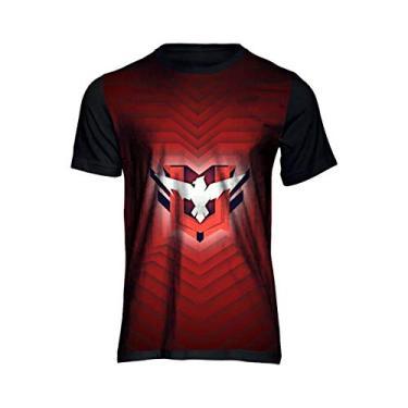Camiseta Free Fire Águia Mestre Game Camisa Full Unissex 119 Preto Tamanho: 12; Cor: Preto