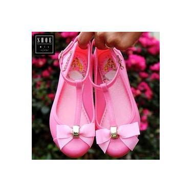 Sapatilha Disney Princesas Grendene Rosa Galap Doch/Prata Infantil 21576-Lovely