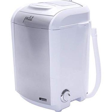 Imagem de Mini Lavadora de Roupas Portátil Tanquinho Petit Prata 127v Até 1,2kg de Roupas Com 5 Modos de Lavagem e Baixo Consumo de Energia e Água
