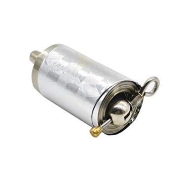 JUNKAI Vara de pesca mágica retrátil vara telescópica vara de pesca vara telescópica mágica de metal prateado mini caneta de proteção ferramenta esportiva bolso caminhada
