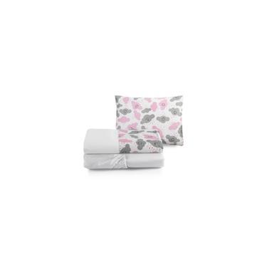 Imagem de Kit Lençol Mini Cama Menina 100% Algodão Rosa 3 Pçs Moderno