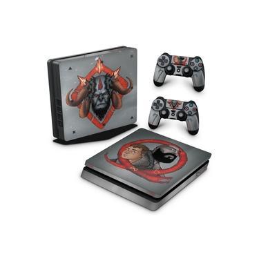 Skin Adesivo para PS4 Slim - God Of War 4