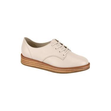 Sapato Feminino Oxford Beira Rio Napa Creme - 4235201