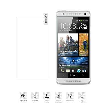 [2 pacotes] Película protetora de tela para HTC One M7, vidro temperado transparente, protetor de tela HD resistente a arranhões para HTC One M7