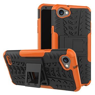 SCIMIN Capa para LG Q6, capa híbrida para LG Q6+, capa rígida híbrida de camada dupla à prova de choque com suporte integrado para LG Q6 de 5,5 polegadas, LG Q6 Plus (Q6+)