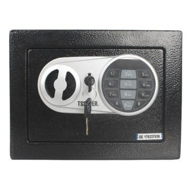 Imagem de Cofre Eletrônico Digital Teclado Com Senha + 2 Chaves E17st - Tssaper