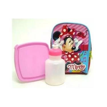 Lancheira Térmica Minnie Mouse Com Potinhos Sestini