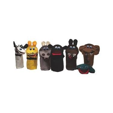 Fantoches Animais Selvagens Kit C/ 7 Personagens - Feltro - Ciabrink
