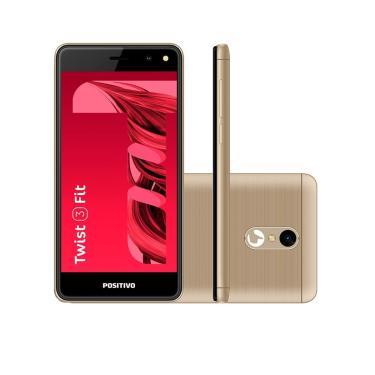 Smartphone Positivo Twist 3 Fit S509c 32Gb Android Oreo Tela 5¿ Câmera 5Mp Dual Sim Quad Core 1.3Ghz ¿ Dourado