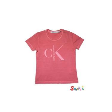 Camisa Infantil Masculina Salmão Calvin Klein