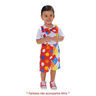 Imagem de Fantasia Infantil De Palhaço Palhacinho Tema Circo Festa (PP)