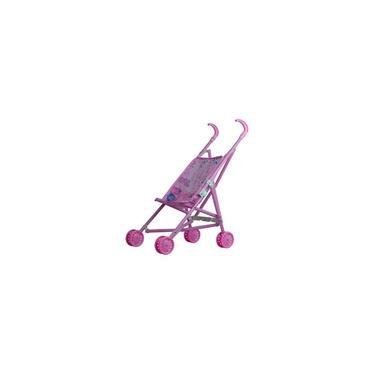 Imagem de Carrinho Tipo Guarda Chuva Para Boneca Bebê 4 Rodas Menina