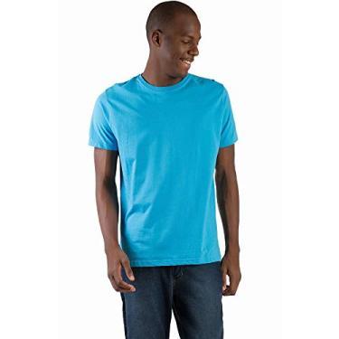 4fe5964e2 T-Shirt Básica Comfort Azul Turquesa Azul Turquesa M