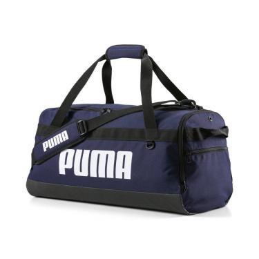 Bolsa Mala Puma Challenger Duffel Tamanho M 076621-02, Cor: Azul Marinho/Branco, Tamanho: ÚNICO