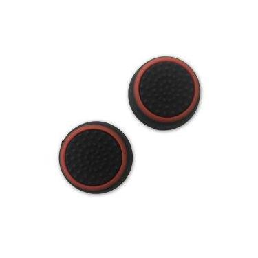 Borracha Grip Para Botão Analógico Dualshock 4 - Preto / Vermelho