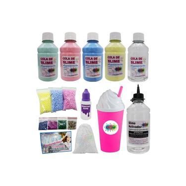 Imagem de Kit Slime O Mais Barato E Completo Com Colas Coloridas Ativador