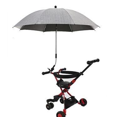 Imagem de Fymini Guarda-chuva de bebê ajustável para carrinho de bebê portátil, guarda-sol, guarda-chuva, carrinho de bebê
