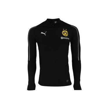 Jaqueta Borussia Dortmund 1 4 Training Puma - Masculina - PRETO Puma da7353110b266