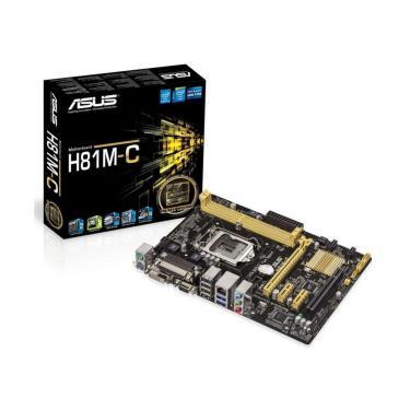 Asus H81M-C/BR (LGA 1150 - DDR3 1600) - Chipset Intel H81 - DVI/VGA - USB 3.0