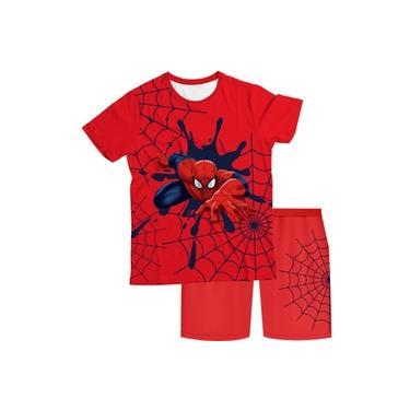 Pijama Infantil Homem Aranha Vermelho PJMC