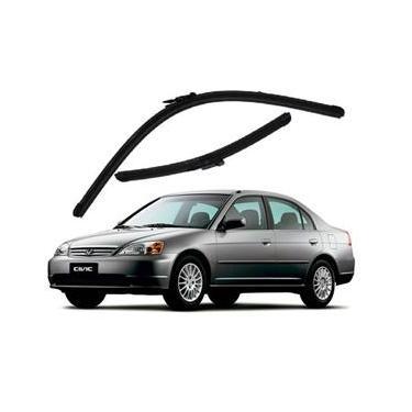 Kit Palhetas Limpador de Parabrisa Dianteiro Honda Civic Ano 2000 - 2005