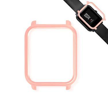 Capa Case Bumper Para Proteção Xiaomi Huami Amazfit Bip Rosa Bebê