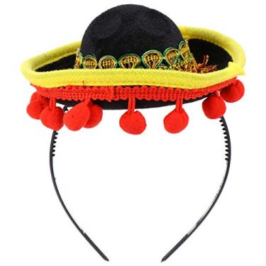 Imagem de NUOBESTY Sombreros Chapéu Mexicano Sombrero Bandanas Fun Fiesta Chapéu Artigos de Festa Halloween Festa de Natal Fantasia Luau Evento Foto Acessórios Decoração Tema Mexicano Para Crianças Adultos Ornamentos Estilo 1
