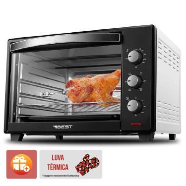 Imagem de Forno Eletrico Best 60 Litros Plus Preto/Branco 220V 2000W (Com Luva Termica)