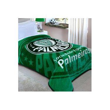 79b9e58eae Cobertor Microfibra Solteiro Palmeiras Corttex