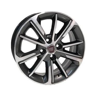 Jogo de Rodas Fiat Cronos Aro 15 x 6 4x98 ET35 S03 Grafite Fosco Diamantado