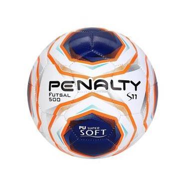 Bola De Futsal Penalty S11 R2 X - Branco E Azul Oficial