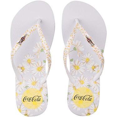 Sandália Special Daisies, Coca-Cola Shoes, Feminino, Branco/Branco, 36