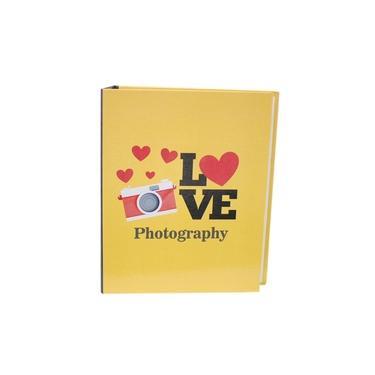Álbum 240 Fotos 10X15 Paint Com Memo Rec 100/27 Amarelo