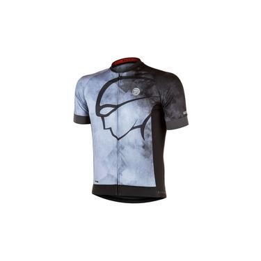 Camisa Ciclismo Mauro Ribeiro Blur Cinza/Preto Masc