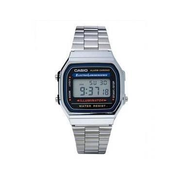 adf8ed4a097 Relógio Casio Unissex A168wa-1wdf Prata