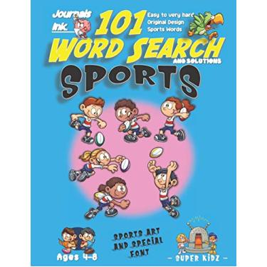 101 Word Search for Kids: SUPER KIDZ Book. Children - Ages 4-8 (US Edition). Rugby Friends. Blue, Sports Words with custom art interior. 101 Puzzles ... and learning for fun activity time!