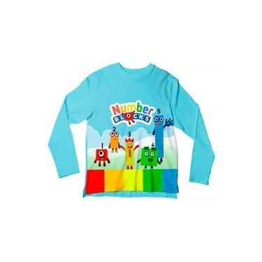 Camiseta Infantil Number Blocks ML