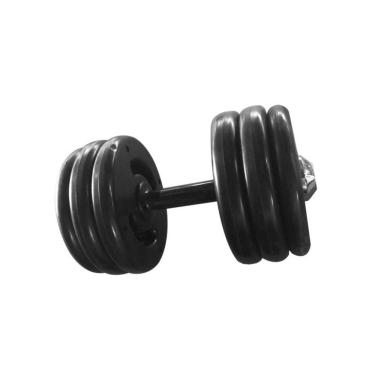 Dumbell Injetado Pegada Emborrachada Academia Fitness 20Kg