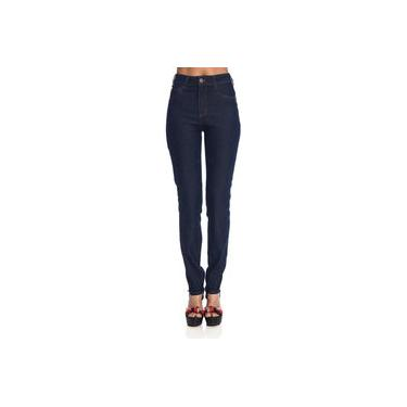 Calça Jeans Feminina Skinny Pesponto Cintura Alta Be Red 21200504