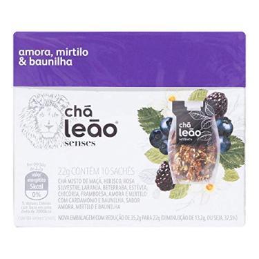 Chá de Amora, Mirtilo e Baunilha Leão Senses com 10 Saquinhos