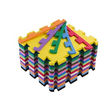 Kit 10 Tapetes De Eva Infantil Tatame 50x50x1cm Bebê Colorido