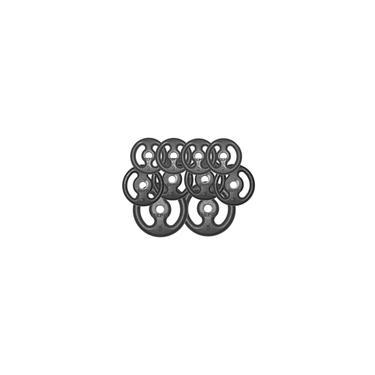 Imagem de Kit 30Kg com 10 Anilhas de Ferro Fundido