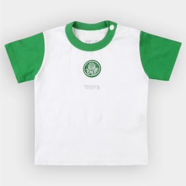 Camiseta Palmeiras Infantil Bicolor Bebê - Unissex bf986776f83