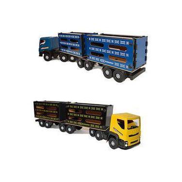 Imagem de Brinquedo Infantil Caminhão Caminhãozinho Carreta Boiadeiro Tam Médio